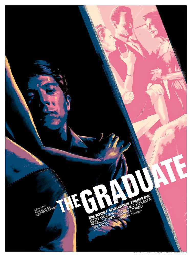 The Graduate Standard Edition Screen Print by Matt Taylor
