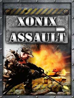 Screenshots of the Xonix Assault for java mobile, phone.