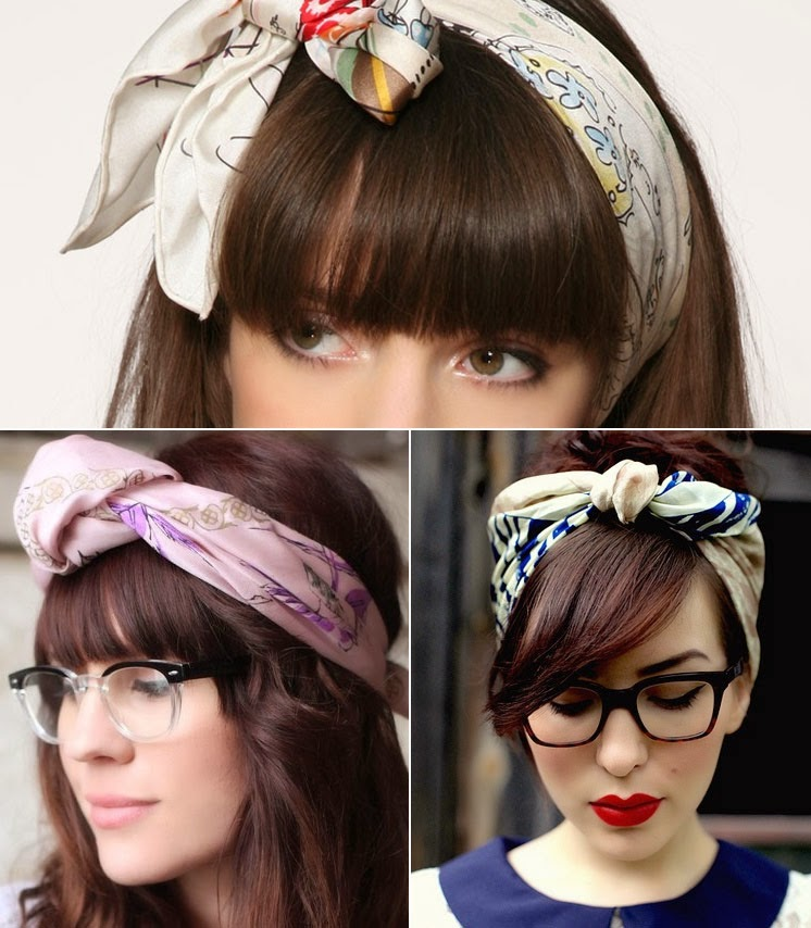 Scarf Hairstyles with Headbands