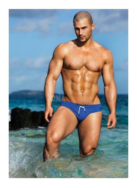 Todd Sanfield wears Parke and Ronen Swim Brief