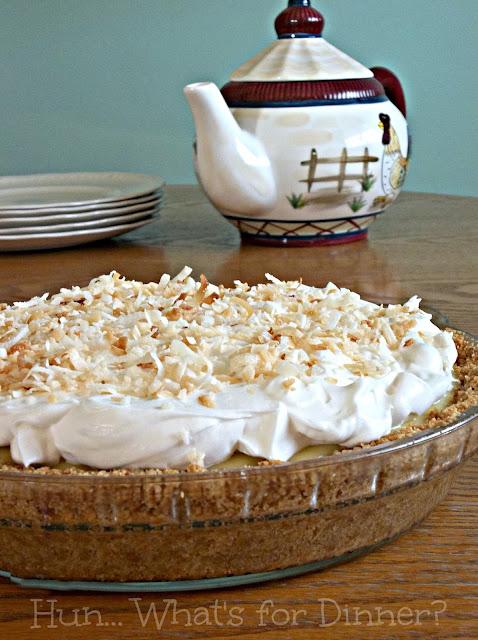 Secret Recipe Club- Coconut Cream Pie from Scratch