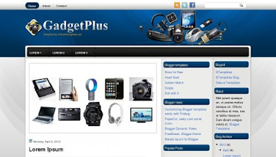 gadgetplus blog template