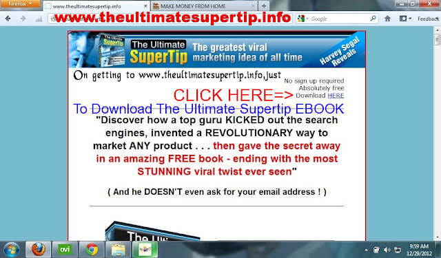 The+Ultimate+Supertip Can I Really Make Money Giving Away Freebies in form of a FREE EBOOK like THE ULTIMATE SUPERTIP?