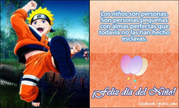 Tarjeta del día de los niños con Naruto