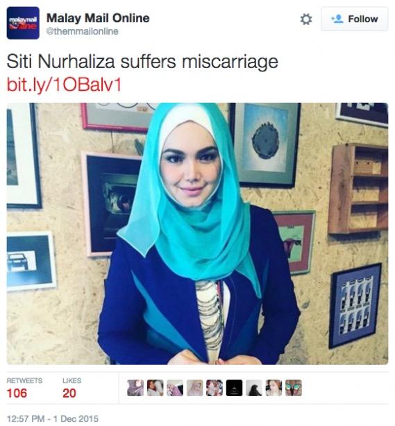 Sindir keguguran Dato Siti Nurhaliza, lihat apa respon netizen