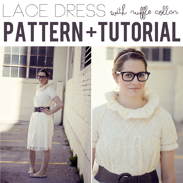 lace dress with ruffle collar - see kate sew