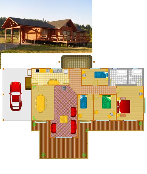 Planos casas de madera prefabricadas plano dise o casa - Planos casa de madera ...