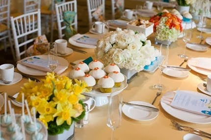 como decorar a festa de bodas de porcelana