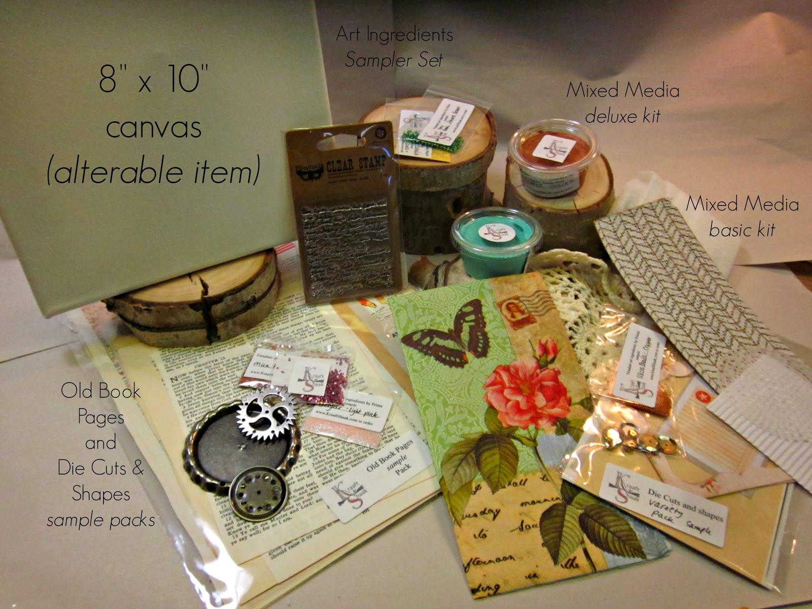 Mixed Media Kit, Art Kit, Kraaft Shaak