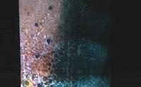 Lámpara de lava multicolor casera