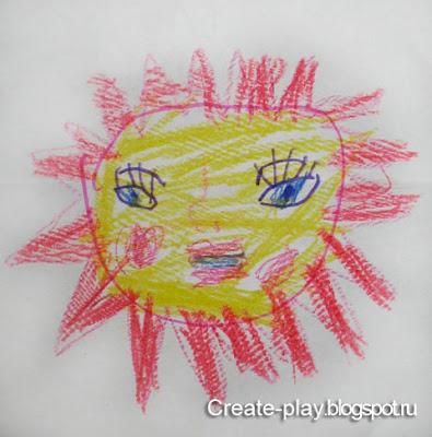рисунок солнышко