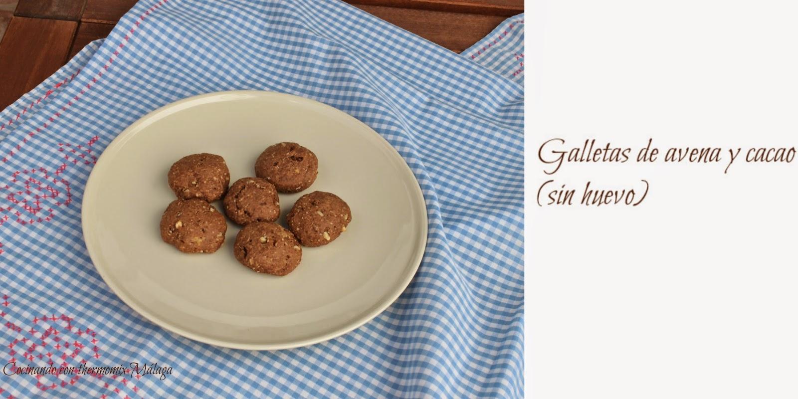 Galletas integrales de avena y cacao (sin huevo)