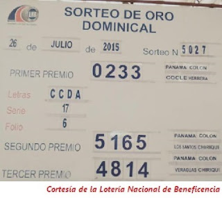 Loteria-Nacional-Domingo-26-de-Julio-2015-Sorteo-Dominical