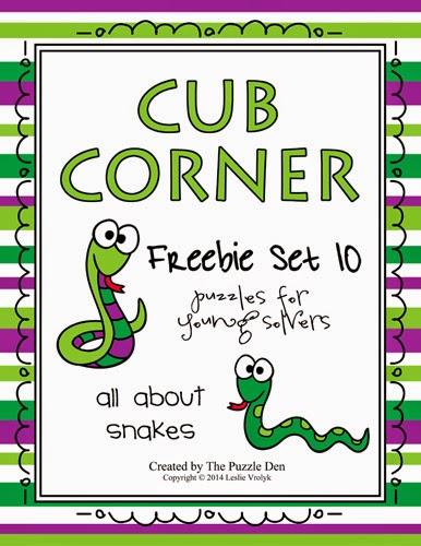 The Puzzle Den: Cub Corner #10