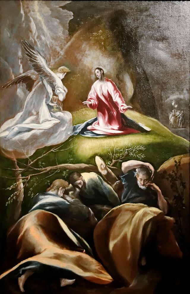 Carême - L'agonie à Gethsémani, par le Greco