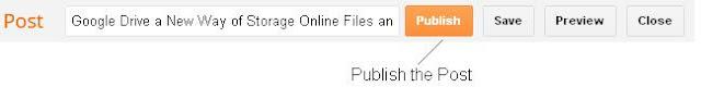 Publish Blogger Post after Edit