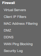 Firewall>Virtual Servers