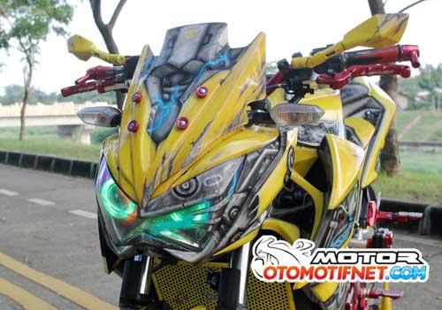 Modifikasi Kawasaki Z250 Bumblebee Keren