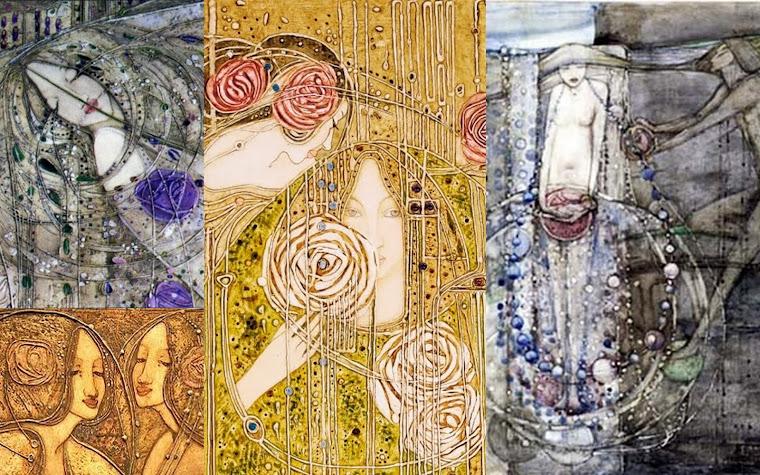 Obras das Garotas de Glasgow, bordados e outras técnicas.