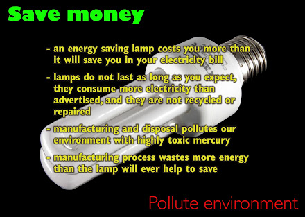 Energy saving light bulbs pollute