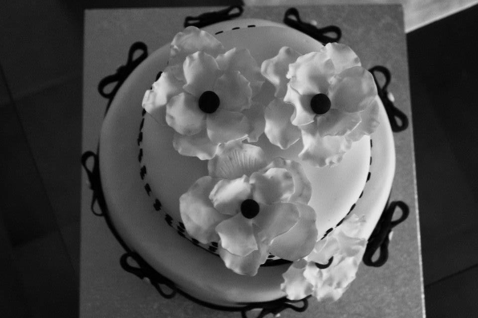 Le torte di fede torta bianco e nero for Semplice design a due piani