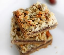 Raspberry Coconut-Almond Bars