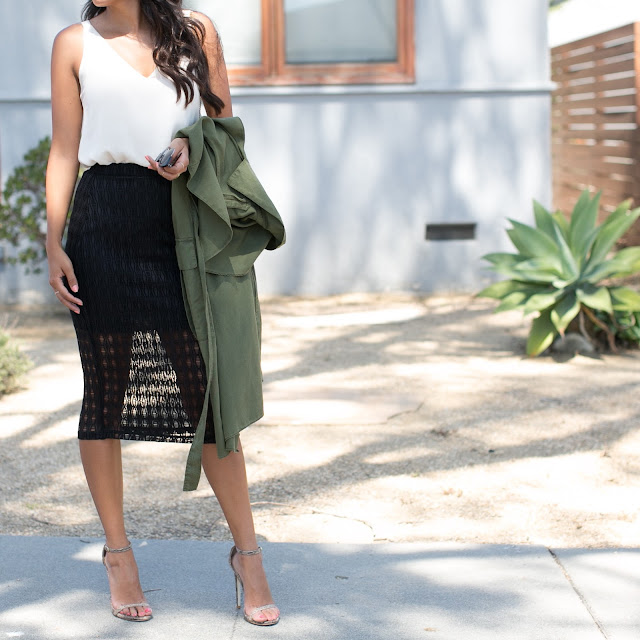 see through skirt outfit, easy date night outfit