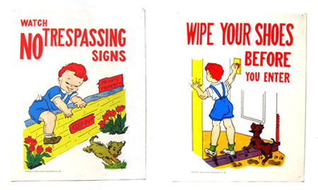 ismoyo's vintage playground: 1950s good manners childrens classroom posters
