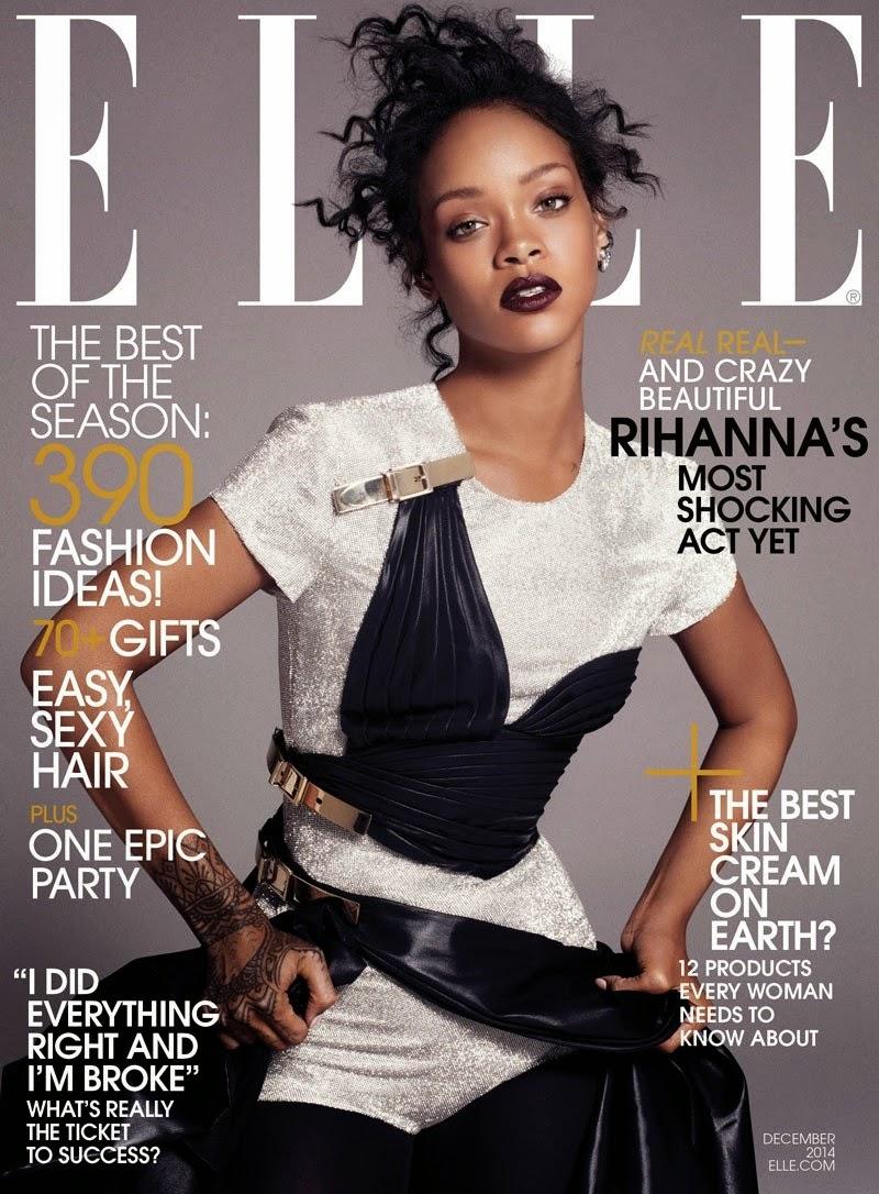 Designer Fashion Blog Elle Us Dec 2014 Rihanna