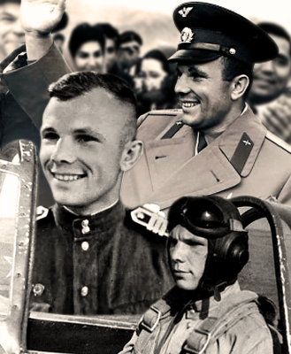 Yuri Gagarin had a brilliant career from Fighter Pilot to Cosmonaut and then to national hero. He became the first human in space when he successfully orbited the Earth on 12th April 1961. NASA 2011.