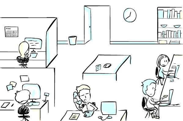 Huesohueso noviembre 2011 for Dibujo de una oficina moderna