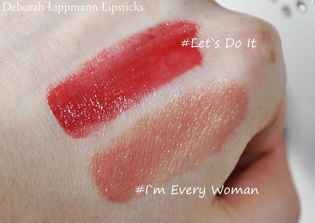 помады DEBORAH LIPPMANN #I`m Every Woman и #Let`s Do It