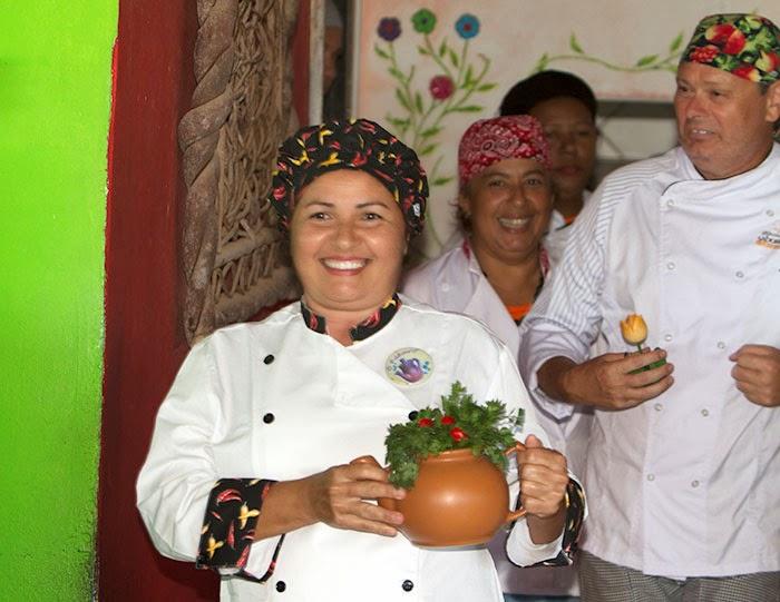 Apresentação dos participantes do festival Sabores e Saberes Conde