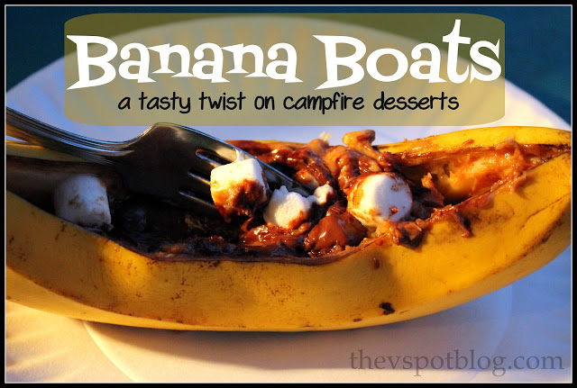 Camping dessert easy banana boats