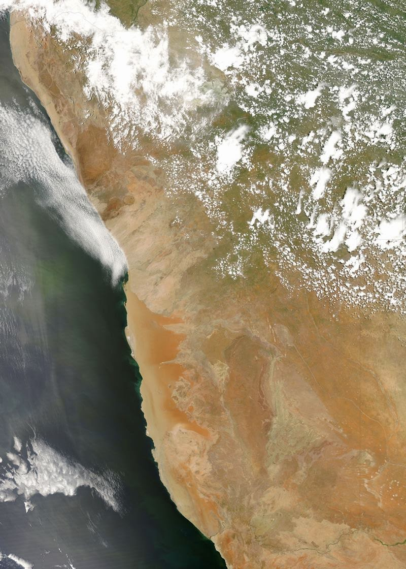 """The Namib is a coastal desert in southern Africa. The name Namib is of Nama origin and means """"vast place"""". According to the broadest definition, the Namib stretches for more than 2,000 kilometres or 1,200 mi along the Atlantic coasts of Angola"""
