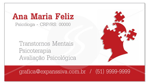 modelos de cartoes de visita de psicologia - Cartões de Visita para Psicólogos