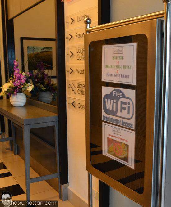 Kemudahan wifi holiday villa kota bharu