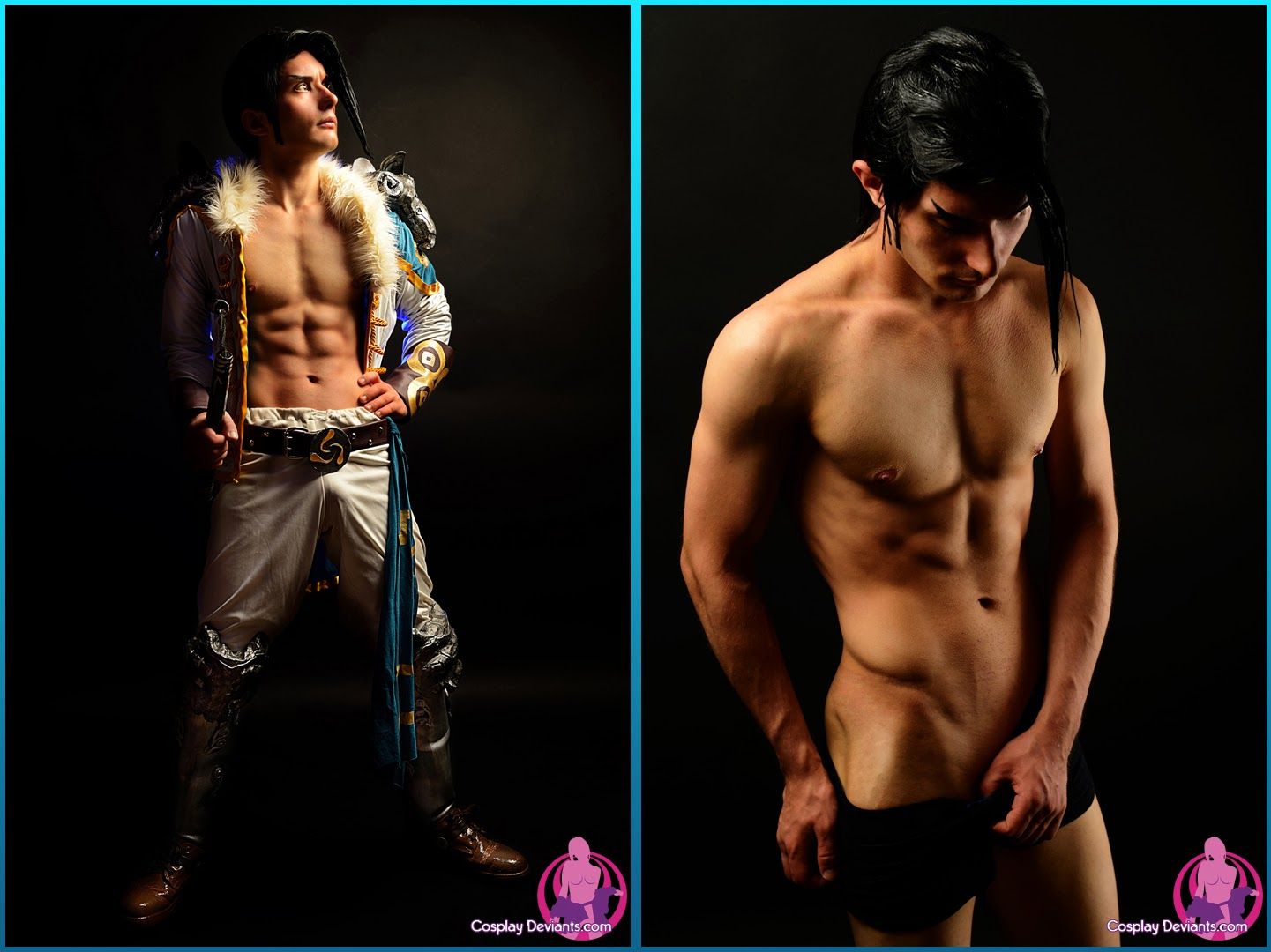 dyptique de cosplay sexy homme soul calibur
