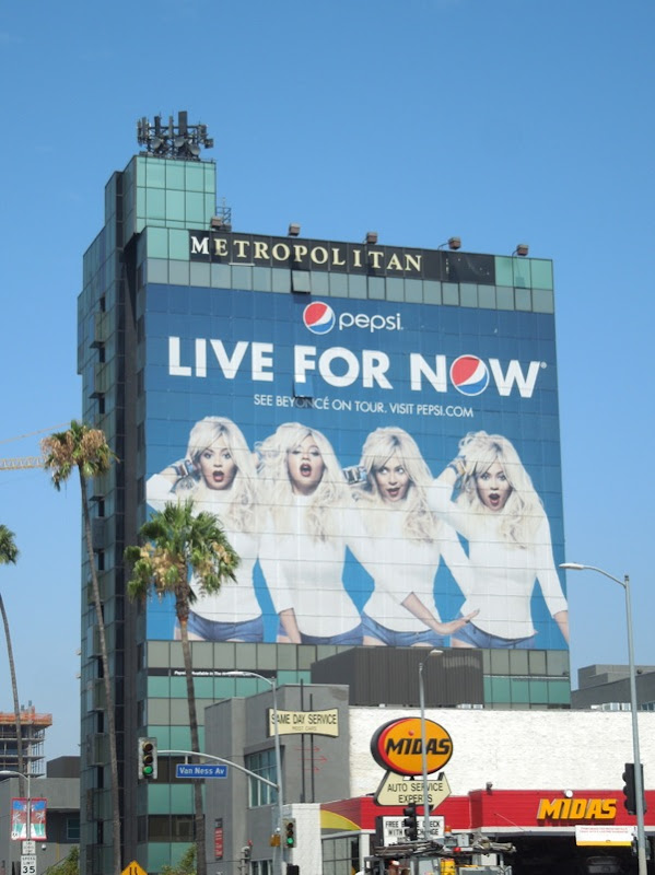 Giant Beyonce Pepsi Live For Now billboard