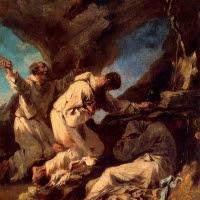 'Monjos en una balma (Alessandro Magnasco 'Il Lissandrino')'