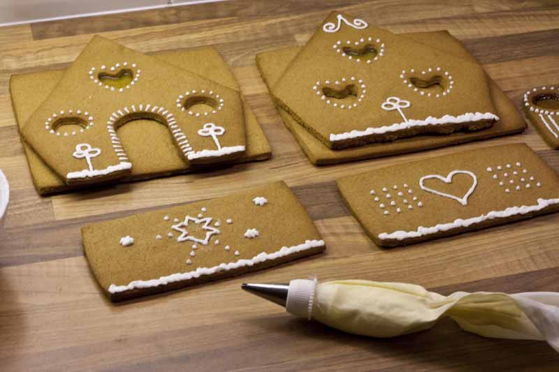 decorated icing Christmas gingerbread house sweets
