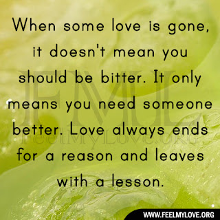 When some love is gone