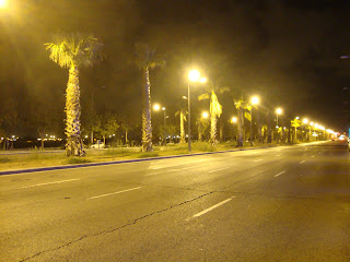 Valencia road at night photo