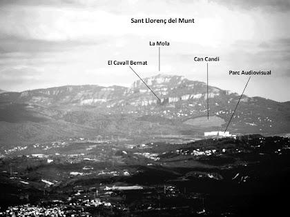 Sant Llorenç del Munt des del mirador del Puig Montmany