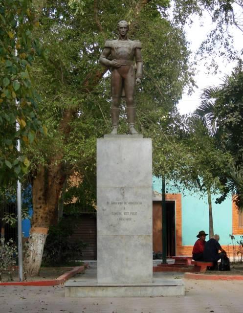 La plaza Bolívar de Quíbor