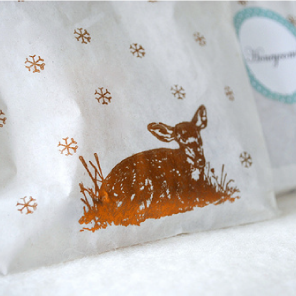 Deer printed bags of honeycomb by Torie Jayne