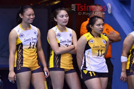 Rookie Tricia Santos (pictured in the middle) will officially play her