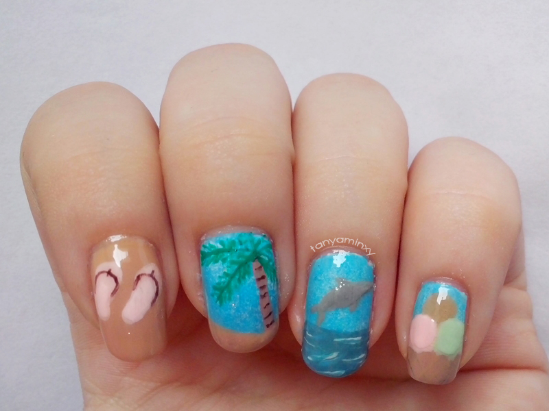 tanyaminxy born pretty story summer nail art contest
