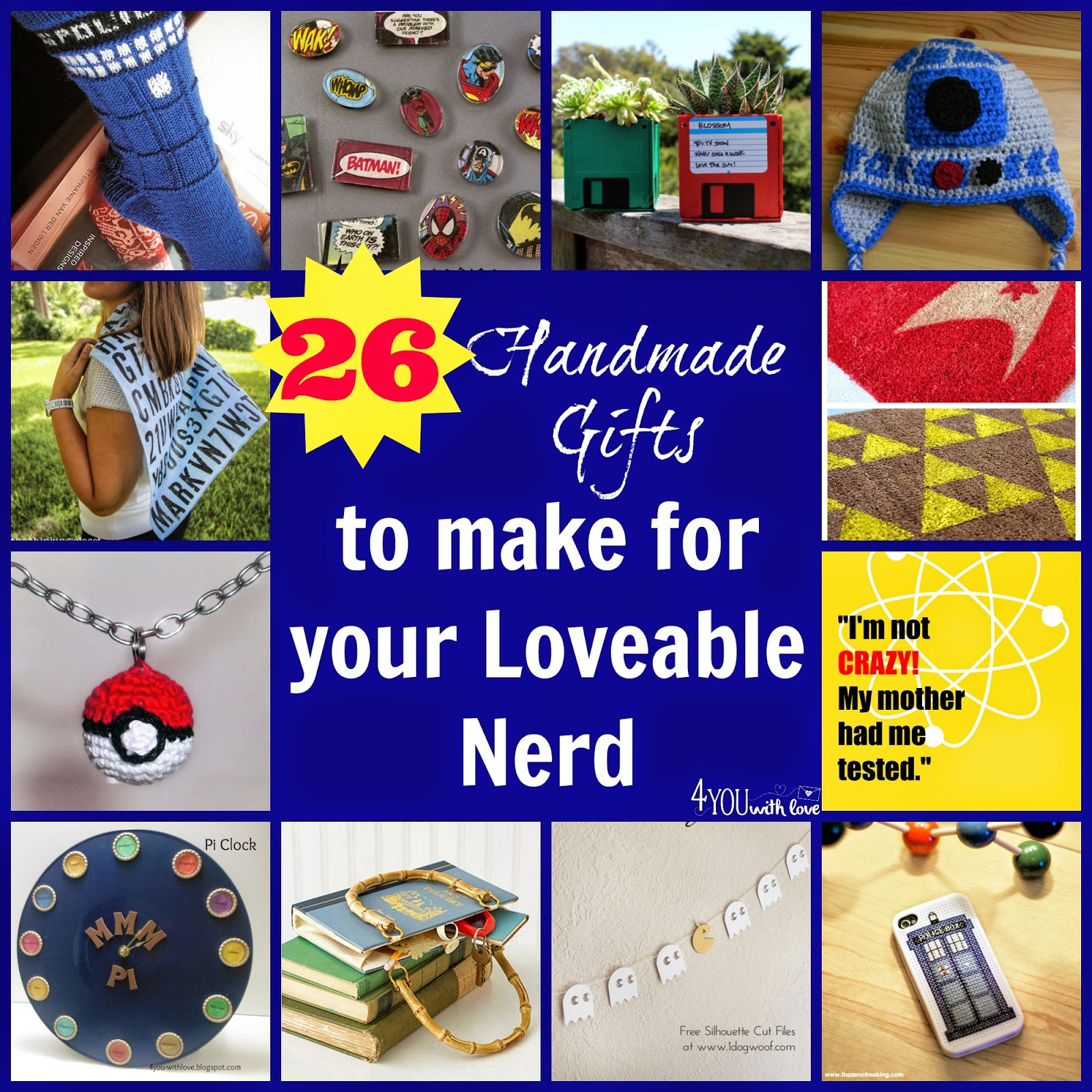 26 handmade gifts for the loveable nerds in your life 4 for What to make for christmas presents