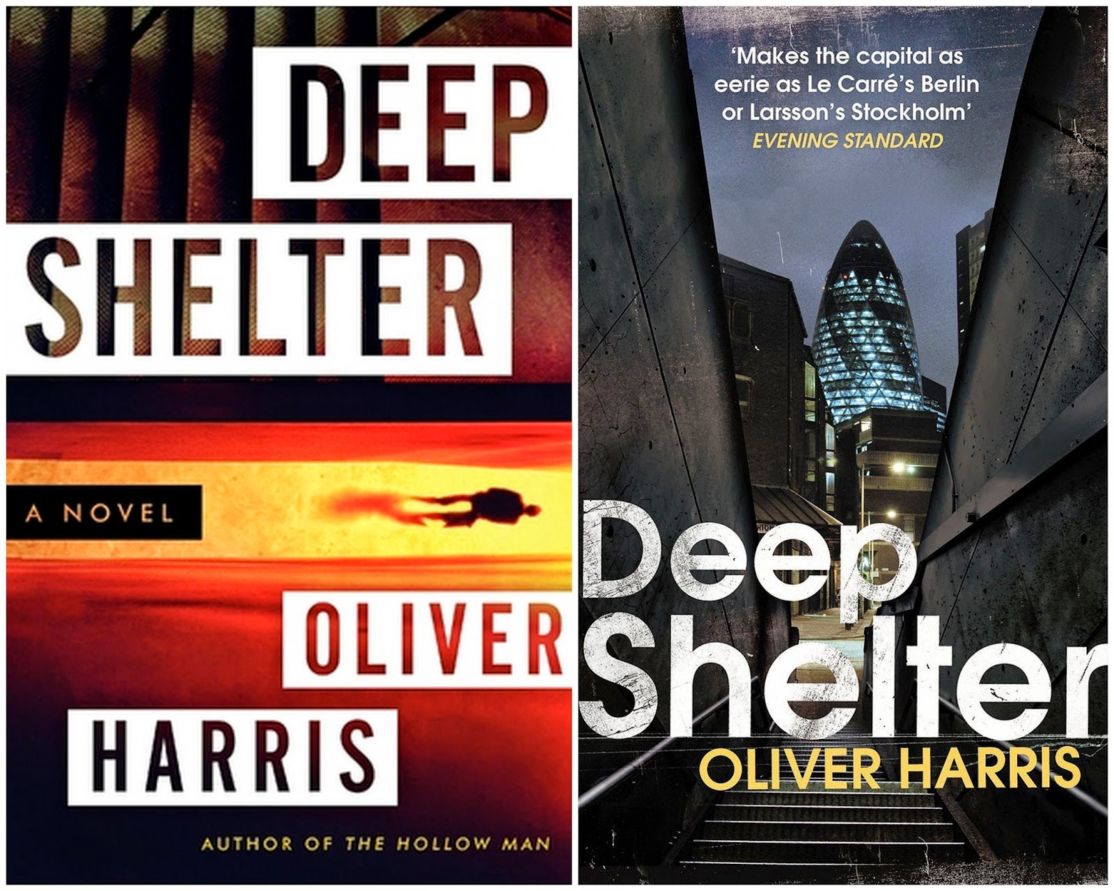 The American Cover Of Deep Shelter, At Left, Has The Typical Bold Look Of A  Thriller But, What's Happening? Are Those Steps At The Top?